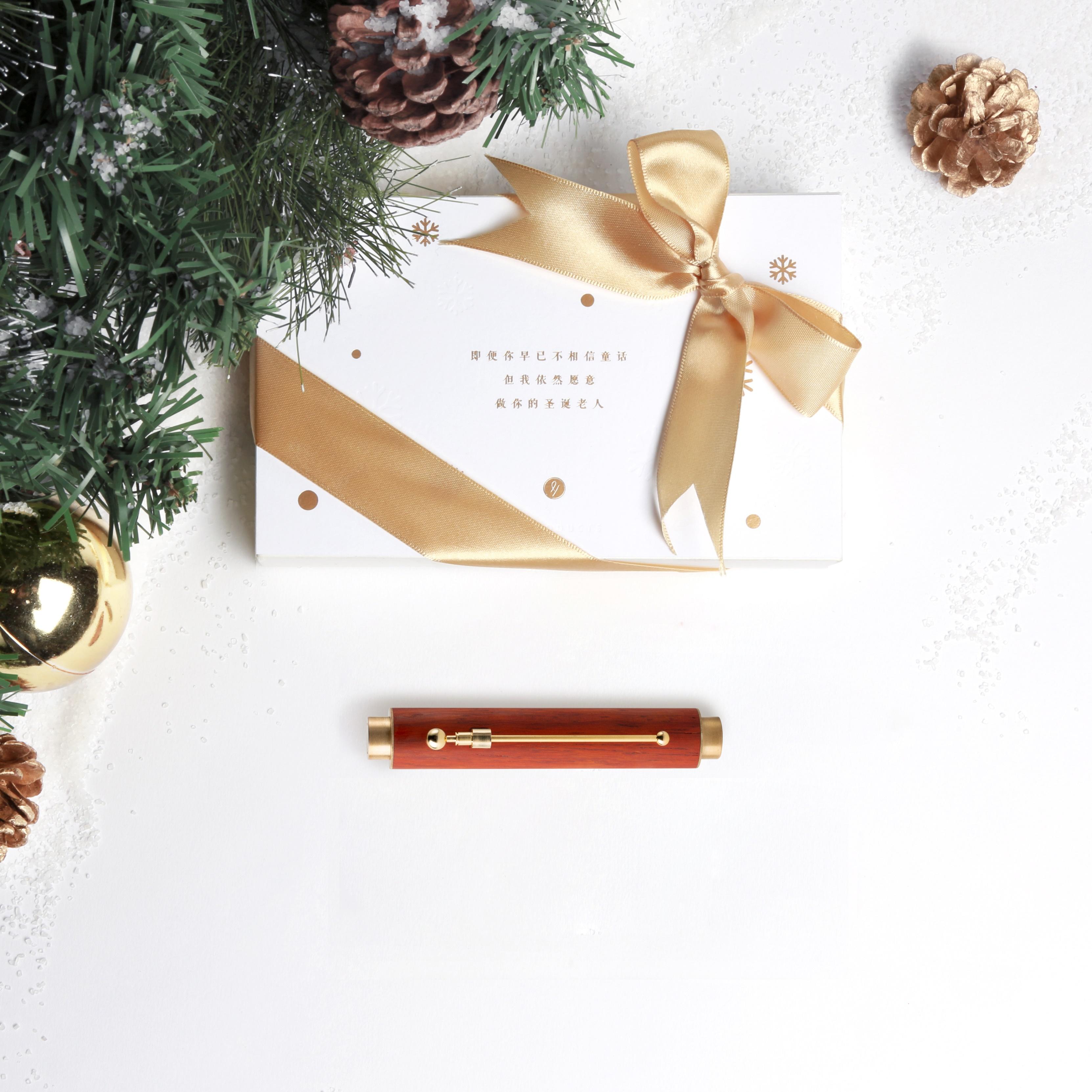 小时光便携钢笔·圣诞限定 | 首创小钢笔,高颜值复古精致,私人订制