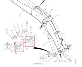 大臂油缸销子/衬套SK250/260-8
