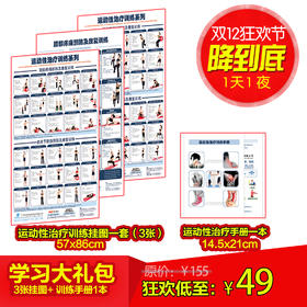 学习大礼包【3张挂图+运动性治疗手册】