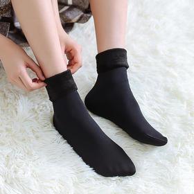 【抗寒零下30度】秋冬季加绒雪地袜,弹力超大 男女可穿  5双装  热卖