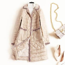 2018冬季新款女装翻领长袖白鸭绒羽绒服欧美气质通勤纯色外套8763
