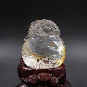 水晶摆件—红幽佛雕件
