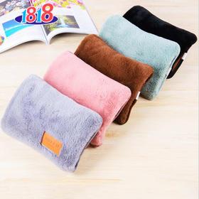 兔毛电热水袋充电暖手袋双插手充电热水袋暖手宝防爆抱枕暖宝宝