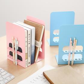 三年二班学生简易桌上办公桌面2片装书立插笔式创意L型书立架