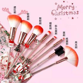 圣诞节主题化妆刷套装8支 | 一件艺术品,刚好,她能用来化妆
