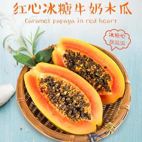 【买一送一】海南红心冰糖木瓜 新鲜水果应季整箱10斤装批发包邮
