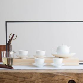永利汇甜白瓷功夫茶具套装玉瓷一壶四杯整套景德镇陶瓷茶壶礼品盒