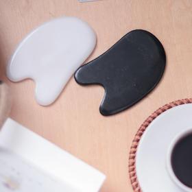 玉石刮痧板 | 汉白玉 祁连山墨玉 手工打磨