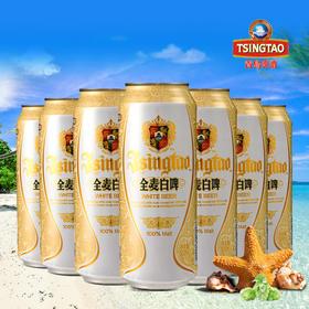青岛啤酒全麦11度白啤500ml*12罐整箱装