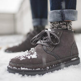 【加绒牛皮】冬季保暖舒适高帮雪地靴