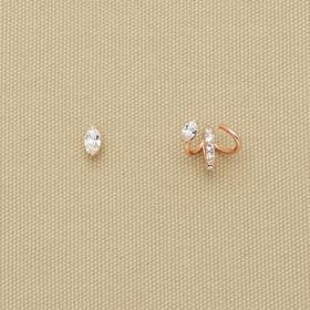 PANACHE CHASUNYOUNG 幸运尖头造型不对称耳环