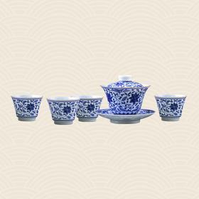 故宫博物院 缠枝莲青花茶具