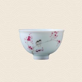 故宫博物院 玉瓷单杯·双喜迎春