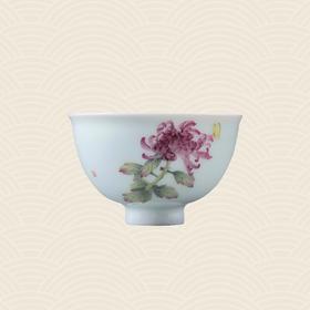 故宫博物院 玉瓷单杯·蝶恋红菊