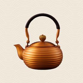 故宫博物院 复古弦纹紫铜壶