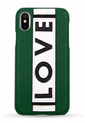 IPHORIA  Iphone X/XS 手机壳  -  绿色LOVE款