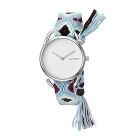 Rumba Time 女士时尚潮流手表防水石英编织表带 20052