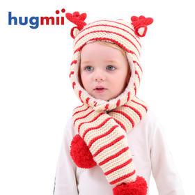 超值团丨hugmii儿童条纹款帽子围巾套装