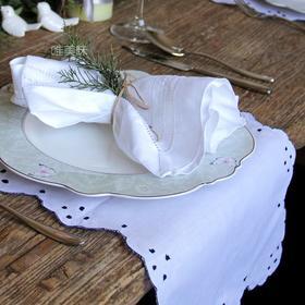 日式棉麻纯手工 抽纱刺绣 复古餐巾 装饰巾 家宴 轰趴 节日必备