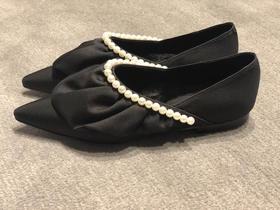 SUECOMMA BONNIE 荷叶边珍珠平底鞋
