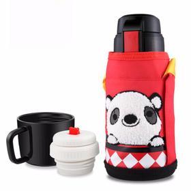 韩国Beddybear杯具熊(红熊猫)保温杯带吸管防漏600ml