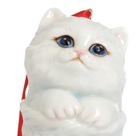 franz/法蓝瓷 圣诞圆舞曲 猫咪坐圣诞袜吊饰