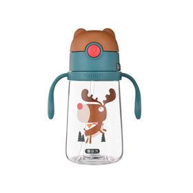 韩国Beddybear杯具熊儿童tritan材质宠物学饮杯麋鹿380ml