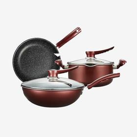 德世朗锅具三件套 汤锅 炒锅 煎锅