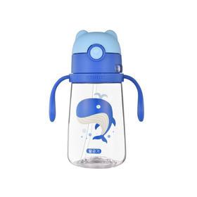 韩国Beddybear杯具熊儿童tritan材质宠物学饮杯鲸鱼380ml