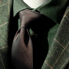 高唯法兰绒磨毛冬季衬衫 暖绿色/咖啡色
