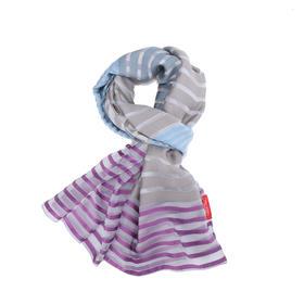 TINO COSMA  意大利横条纹真丝丝巾围巾