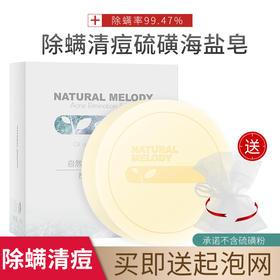 【第2件半价】自然旋律天然海盐清痘皂 日本博士研发 控油/清痘/洁肤 不含硫磺粉