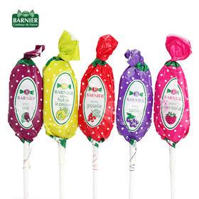 超值团丨法国原装Barnier 综合水果味棒棒糖(5个口味15支装)