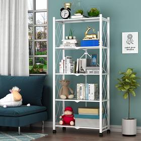 厨房置物架落地多层收纳架架子简易阳台铁艺书架卧室客厅储物架