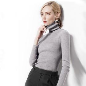 【买一送一】Mr.ing时尚保暖高领套头毛衣,亲肤抗起球,保暖时髦又洋气