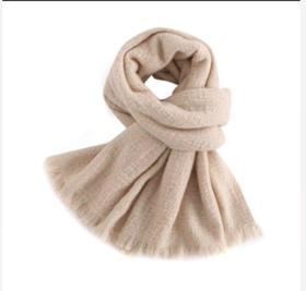 Covet 自有品牌 提花设计流苏纯山羊绒围巾