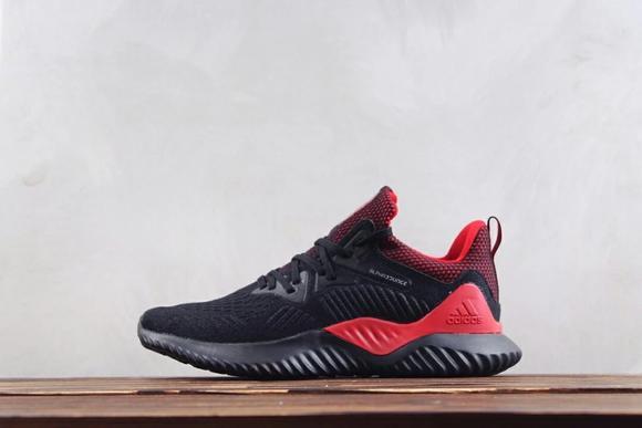 阿迪达斯adidas alpha bounce hpc ams m 阿尔法缓震跑鞋b42289黑红博格巴