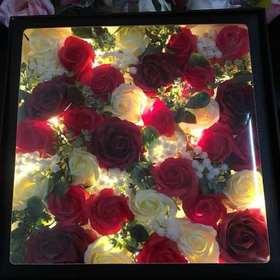 双层鲜花蛋糕盒网红创意