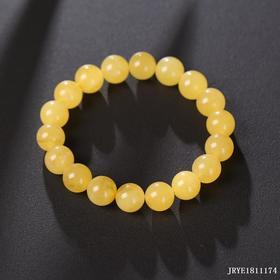 蜜蜡鸡油黄单圈手串 珠径约:10mm