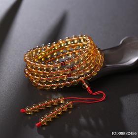 缅甸血茶琥珀108佛珠 珠径约:6.5 mm