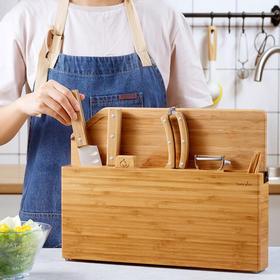 悦味不锈钢刀具组合套装 厨房全套菜刀砧板组合 多功能切菜水果刀