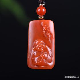 樱桃红福在眼前雕刻件