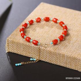 原创沙丁红珊瑚手串