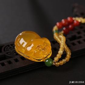 金绞蜜【福猪】雕刻件 重量约:5.75g