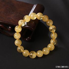 蜜蜡圆珠单圈手串 珠径约:11.1mm