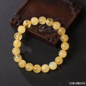 蜜蜡圆珠单圈手串 珠径约:9.9mm
