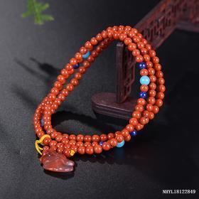 柿子红毛衣链