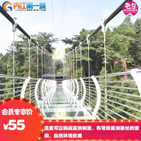 圣灵山2景点通票玻璃桥+玻璃滑道(威远特价)