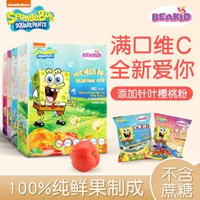 Beakid海绵宝宝 水果溶豆3盒装(适合8个月大的宝宝食用)