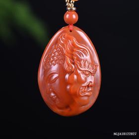 柿子红带玫红一念之间雕刻件